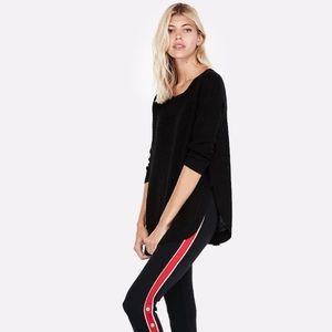 Black 3/4 sleeve sweater